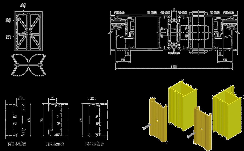 маятниковые двери двухстороннего открывания