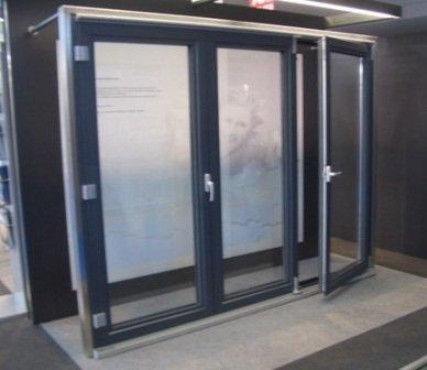 Алюминиевые двери - гармошки