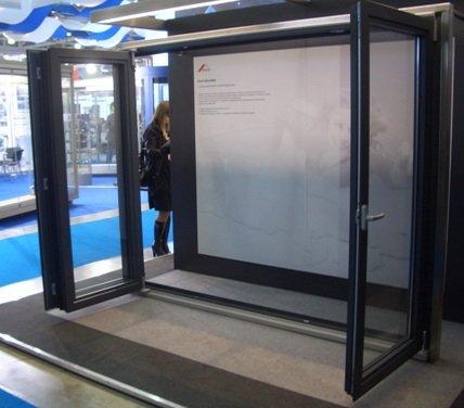 Дверные параллельно-складные алюминиевые двери (гармошки)