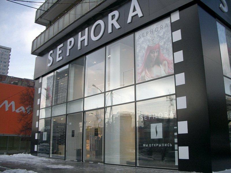 Остекление витрины магазина SEPHORA